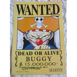 One piece poster wanted baggy buggy le clown neuf - Affiche wanted one piece ...