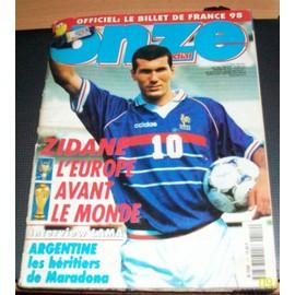 Onze Mondial - Zinedine Zidane (Avec Fiches Equipes Coupe Du Monde 1998) - N� 112