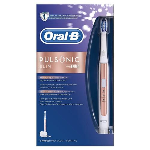 oral b pulsonic slim brosse dents lectrique rose or pas. Black Bedroom Furniture Sets. Home Design Ideas