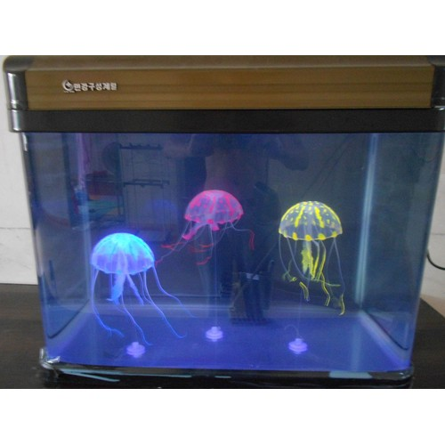 orange 5 cm diametre meduse artificielle lumineuse aquarium. Black Bedroom Furniture Sets. Home Design Ideas