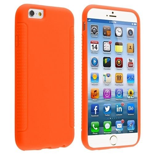 orange protection housse coque etui silicone souple pour apple iphone 6 et 6s 4 7 pouces. Black Bedroom Furniture Sets. Home Design Ideas