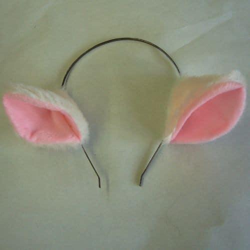oreille de chat en serre t te blanche rose mod le kawaii. Black Bedroom Furniture Sets. Home Design Ideas
