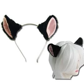 oreille de chat en serre t te noir mod le kawaii japonais d guisement cosplay costume soir e. Black Bedroom Furniture Sets. Home Design Ideas