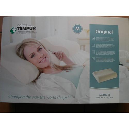 oreiller ergonomique memoire de forme tempur original taille m. Black Bedroom Furniture Sets. Home Design Ideas
