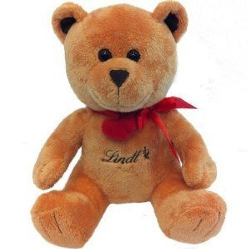 ours lindt peluche doudou 30 cm collier rouge avec coeur rakuten. Black Bedroom Furniture Sets. Home Design Ideas
