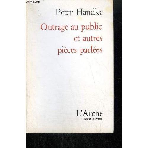 outrage au public peter handke pdf