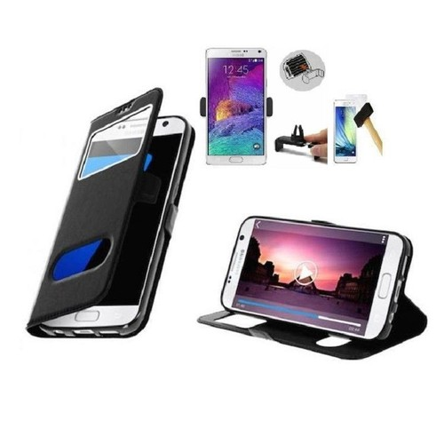 pack 3 articles etui film verre support voiture samsung galaxy a5 2017. Black Bedroom Furniture Sets. Home Design Ideas