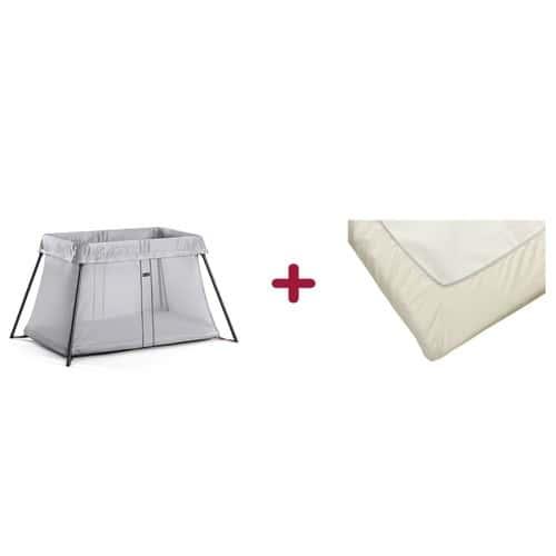 pack sommeil babybj rn avec lit parapluie light argent drap housse pour lit parapluie light. Black Bedroom Furniture Sets. Home Design Ideas