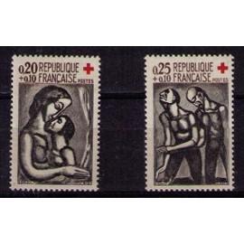 Paire Croix Rouge N�1323 & 11324 De 1961 Neufs