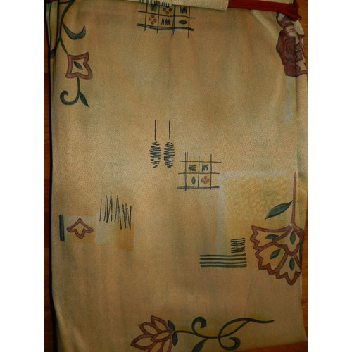paire de double rideaux pattes avec embrasses neuve. Black Bedroom Furniture Sets. Home Design Ideas