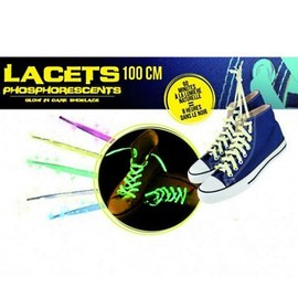 Paire De Lacet Phosphorescent Brillent La Nuit 4 Couleurs Mode