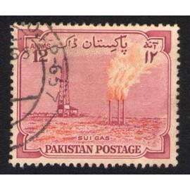 Pakistan 1955 Oblitr Rond Used Stamp Champ De Gaz Naturel Sui