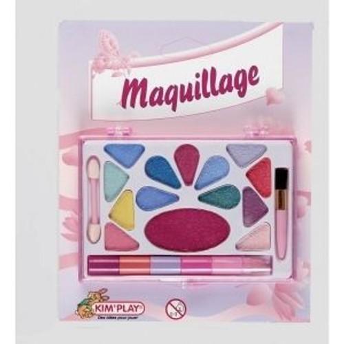 palette de maquillage enfant fard a paupiere rouge a levre pinceaux. Black Bedroom Furniture Sets. Home Design Ideas