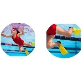 Palmes r glables pour b b nageur enfant piscine mer for Palmes courtes piscine