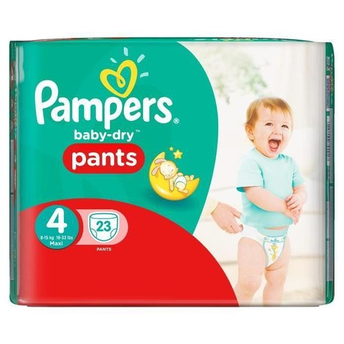 Pampers baby dry pants couches taille 4 maxi 8 15 kg x - Prix couches pampers baby dry taille 4 ...