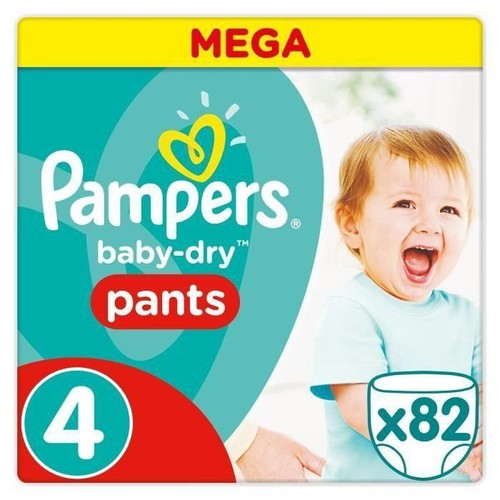 Pampers baby dry pants taille 4 8 14 kg 82 couches culottes - Couches culottes pampers ...