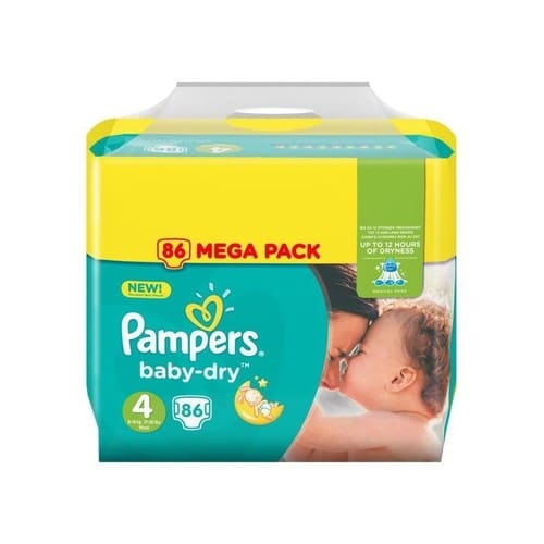 Pampers baby dry taille 4 8 16 kg x86 couches pas cher - Prix couches pampers baby dry taille 4 ...