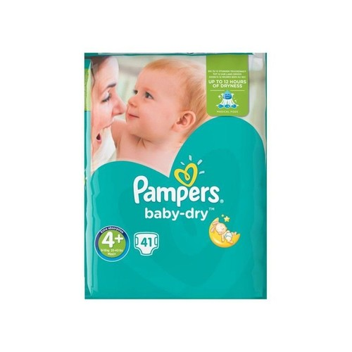 Pampers baby dry taille 4 9 18 kg x41 couches pas cher - Prix couches pampers baby dry taille 4 ...