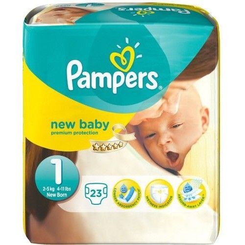 Pampers New Baby Premium Protection Taille 1 New Born 2 5kg 23 Couches