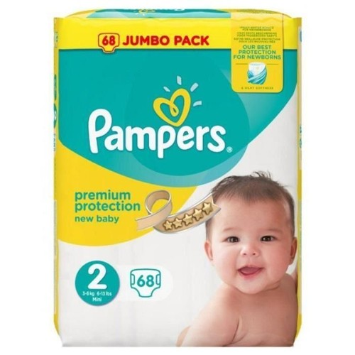 Pampers new baby taille 2 3 6 kg x68 couches pas cher rakuten - Couches pampers new baby taille 3 ...