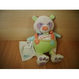 Panda De 24 Cm Mouchoir Baby'nat