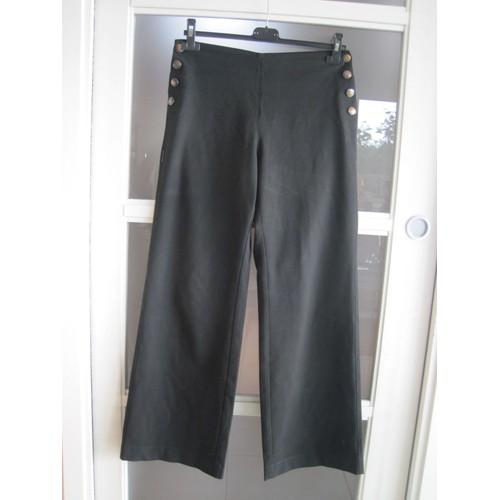 pantalon avec boutons sur les hanches t38 cop copine. Black Bedroom Furniture Sets. Home Design Ideas