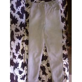Pantalon Blanc Effet Cuir