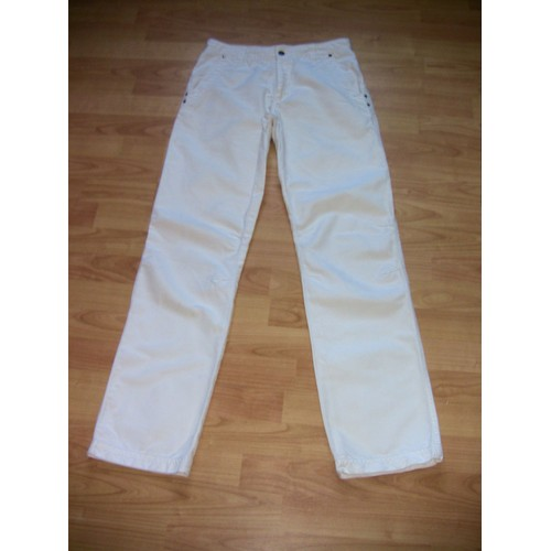 pantalon cargo lin 36 blanc achat vente de pr t porter rakuten. Black Bedroom Furniture Sets. Home Design Ideas