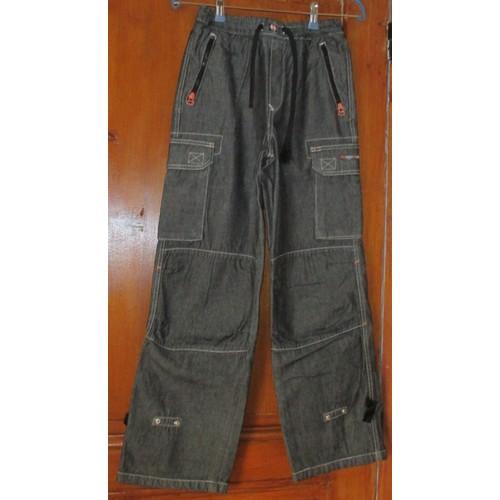 pantalon complices urban utility 12 ans 150cm gris style jean 100 coton 2 poches lat rales. Black Bedroom Furniture Sets. Home Design Ideas