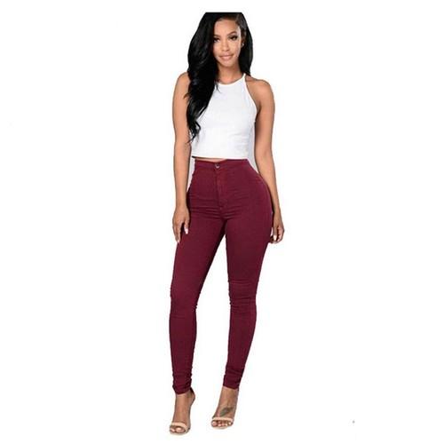 721a92f5d117a pantalon-femme-taille-haute-coton-slim-couleur-unie-jeans -jkz0294-1106247435 L.jpg