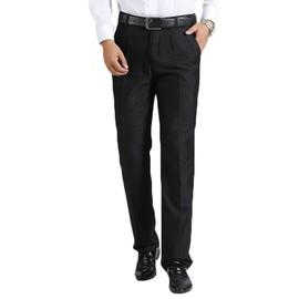 e4032ebfb4e Pantalon Homme Pantalon De Costume Affaires Homme Pantalon Loisir Avec Baggy  -Noir Zs0973