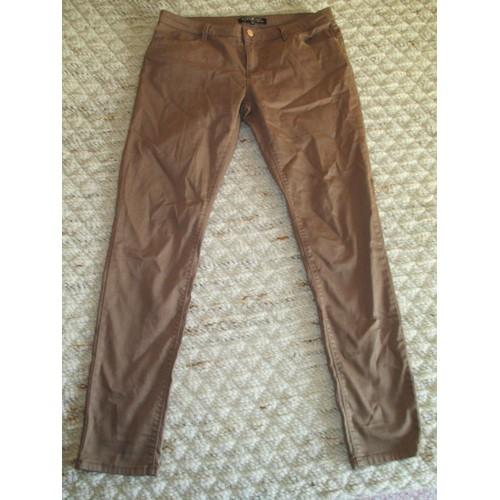 pantalon jean marron beige cache cache taille 42 achat et vente. Black Bedroom Furniture Sets. Home Design Ideas