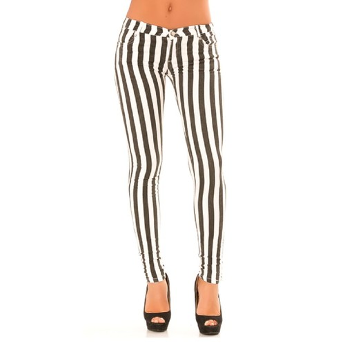 pantalon jeans noir blanc rayure coupe slim achat et vente. Black Bedroom Furniture Sets. Home Design Ideas
