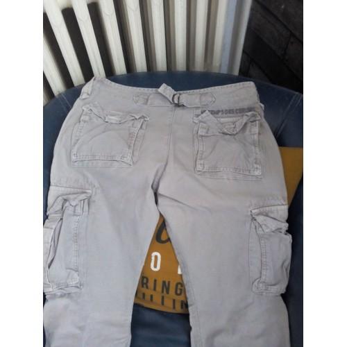 Pantalon le temps des cerises treillis coton 38 kaki - Pantalon treillis femme le temps des cerises ...