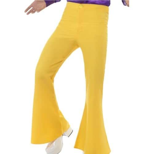 70 Homme Pantalon 60 L Rétro Jaune Années w00Zat1qx