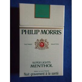 paquet de cigarettes vide philip morris super lights menthol rakuten. Black Bedroom Furniture Sets. Home Design Ideas