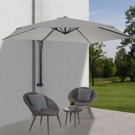 parasol de mur casoria parasol d port pour balcon ou terrasse 3m inclinable sable. Black Bedroom Furniture Sets. Home Design Ideas