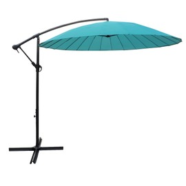 parasol d port rond shangha 3m de diam tre turquoise. Black Bedroom Furniture Sets. Home Design Ideas