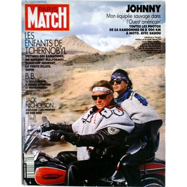 paris match n 2137 johnny hallyday couverture jack nicholson paula abdul brigitte bardot. Black Bedroom Furniture Sets. Home Design Ideas