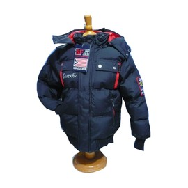 parka blouson manteau garcon scott fox 8 au 14 ans noir gris ou bleu. Black Bedroom Furniture Sets. Home Design Ideas