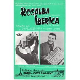 "Petite annonce Partition Accordeon ""Rosalba"" Andre Verchuren ""Iberica"" Jean Segurel - A. VERCHUREN/J. SEGUREL - 78000 VERSAILLES"