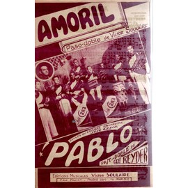 """Petite annonce Partition Accordeon/Violon/Guitare - Victor Soulaire """"Amoril"""" Paso Doble """"Pablo"""" Paso Doble - 78000 VERSAILLES"""