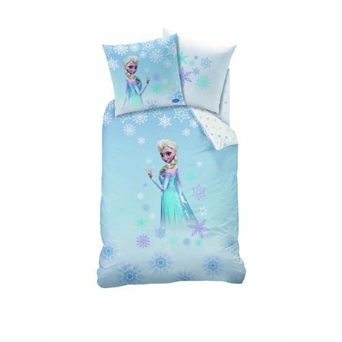 parure reine des neiges frozen 1 personne housse de couette 140 x 200 cm taie d 39 oreiller 63 x. Black Bedroom Furniture Sets. Home Design Ideas