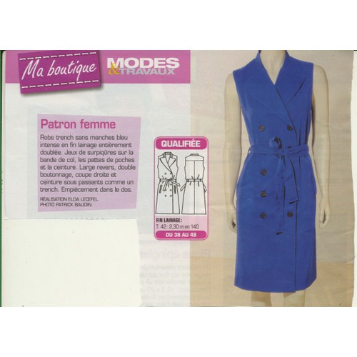80c642f6517 patron-couture-modes-et-travaux-n-361931-robe-trench-sans-manches-taille -36-38-40-42-44-46-48-longueur-de-robe-102-cm-en-taille-42-921762296 L.jpg