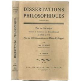 les dissertations philosophiques