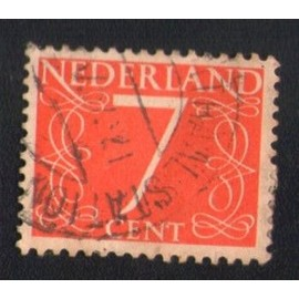Pays Bas 1953 Oblitr Rond Used Stamp 7 Cent Rouge Nl 612