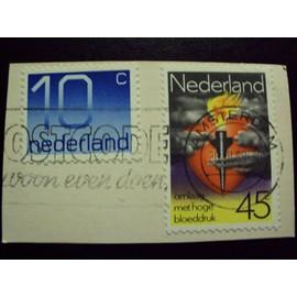 Pays-Bas...2 Timbres.Nederland 45 Omlaag. & 10 C...Oblit�r�s