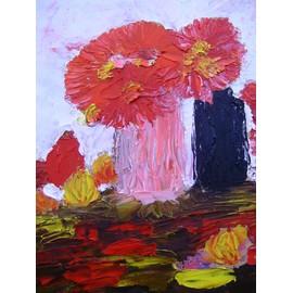Peinture a l 39 huile au couteau vase de fleurs neuf et d 39 occasion - Peinture au couteau huile ...