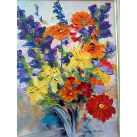 offer buy  peinture a l huile sur toile avec bel encadrement