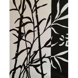 peinture bambou noir et blanc neuf et d 39 occasion. Black Bedroom Furniture Sets. Home Design Ideas